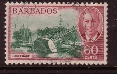 BARBADOS....  1950  60c careenage used