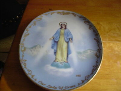 """Collector Plate -""""Our Lady of Grace"""" - Bradford Exchange 1994 - Limited Edition"""