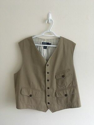 "POLO SPORT ""Sportsman"" by Ralph Lauren Field Hunting Fishing Trip Vest Men's XXL"