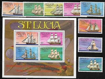 St Lucia 379-86A Ships MLH