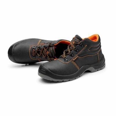 Men's Steel Toe Leather Boots Anti-Slip Safety Work Shoes Outdoor Wear resistant