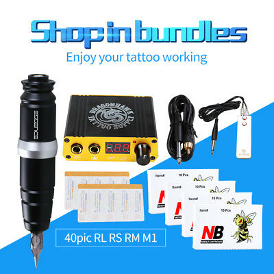 Professional Tattoo Pen Kit For Permanent Makeup Rotary Machine Set LCD Power