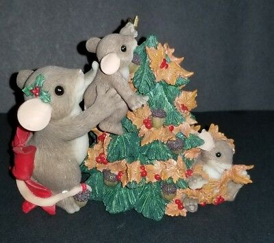 """Fitz And Floyd Charming Tails """"you Help Top Off The Season""""excellent Condition"""