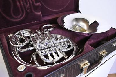 ALEXANDER 103MBV DOUBLE FRENCH HORN W/Mainz 8 Hard Case Used Ex++ Rare