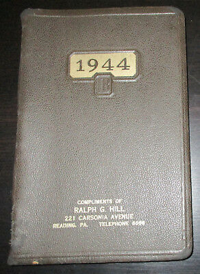 Vintage 1944 Daily Desk Diary Planner BLANK UNUSED Softcover Calendar Organizer