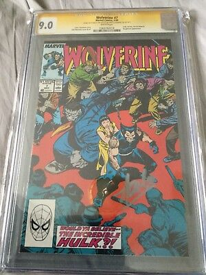 1989 Wolverine #7: CGC 9.0 Autographed By Stan Lee And Chris Claremont