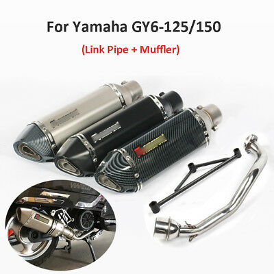 Motorcycle Slip On Exhaust Pipe Muffler Link Pipe For Yamaha GY6-125/150