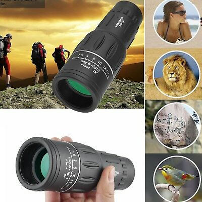 40X60 HD Day &Night Vision Dual Focus Optics Zoom Monocular Telescope 66M/8000M