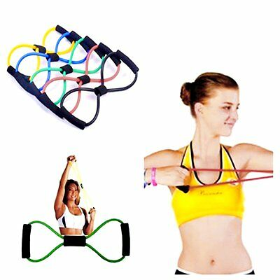 Rubber Resistance Trainers Training Bands Tube Workout Stretch Exercise For Yoga