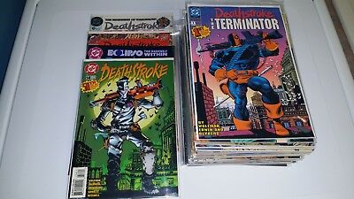 47 Issue Lot Deathstroke the Terminator 0-58 +ann High Grade VF or better Comics