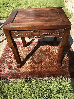 Antique Chinese Huanghuali Rosewood Side Table Very Rare Qing Dynasty