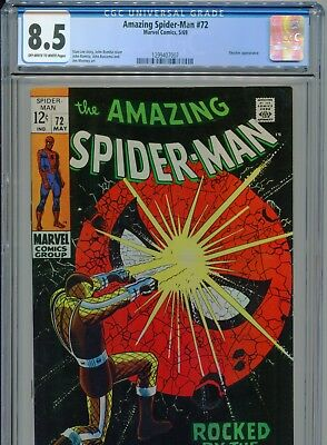 1969 Marvel The Amazing Spider-Man #72 Shocker Appearance Cgc 8.5 Ow-White