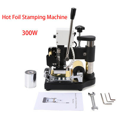 FOIL STAMPING MACHINE PAPER LEATHER FOR ID PVC CARDS STAINLESS STEEL  foil paper