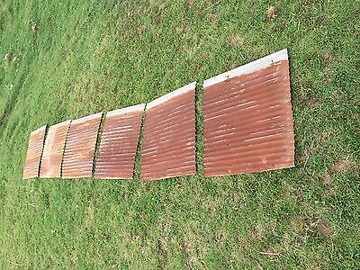 "15 pieces of Vintage Metal CORRUGATED TIN 26"" x 48"""