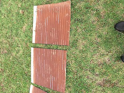 "2 pieces of Vintage Metal CORRUGATED TIN 24"" x 24"""