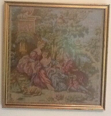 Framed Needlework Classical Scene