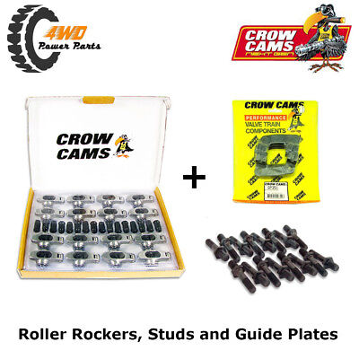 """Crow Cams Roller Rockers, 7/16"""" Studs & Guide Plates - Holden 6 Cyl 179 186 202"""