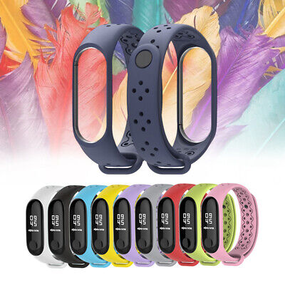 Breathable Replace Sports Silicone Wristband Watch Strap for Xiaomi Mi Band 3