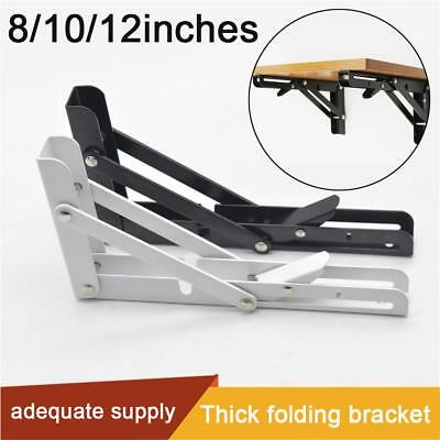 "2PCS 8/10/12"" Metal Triangle Folding Shelf Bracket Support Wall Bracket Holder"