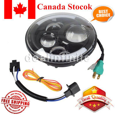 """7"""" Round LED Projector Daymaker Headlight with Turn Signal Light for Harley"""