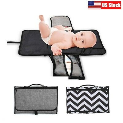 Baby Diaper Changing Pad Portable Travel Diaper Clutch Station Changer Mat