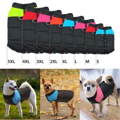 Dog Puppy Pet Warm Insulated Padded Coat Thick Winter Puffer Jacket Clothes Top