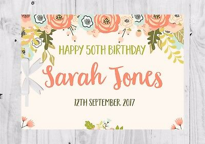 PERSONALISED Birthday Guest Book, Keep Sake, Games, Neutral, Floral, Cute