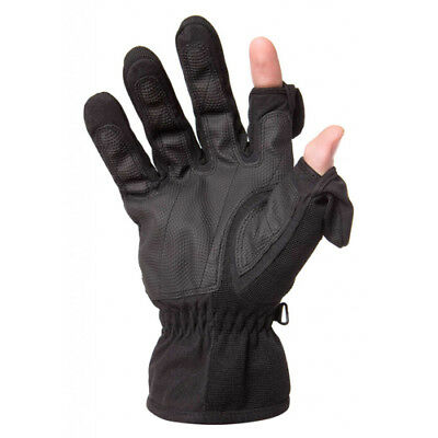 Freehands Mens Stretch Gloves - Black, Medium
