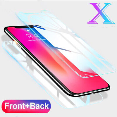 Case Friendly Front+9H Rear Temper Glass Screen Protector for iPhone XS Max Film