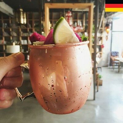 Hot 530ML Moscow Mule Becher Tassen Kupferbecher Kupfer Cocktailgläser Becher DE