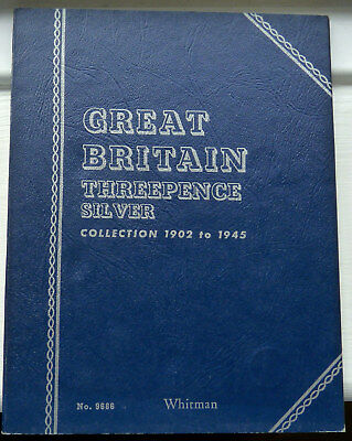 Whitman Folder Silver Threepence 1902 To 1945 With 36 Threepences