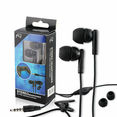 For Sony PS4 Playstation 4 Controller Wired Gaming Earphone Headset W/ Mic Black