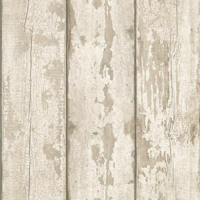 White Washed Wood Effect Wallpaper Arthouse 694700 - Feature Wall New