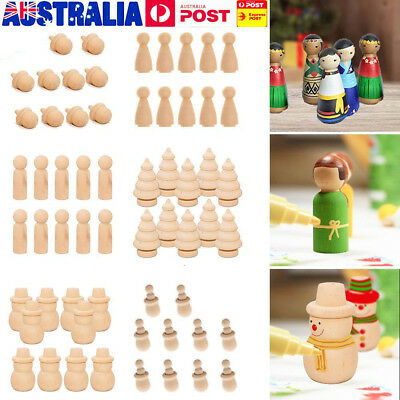 Natural Wooden DIY People Peg Dolls Clothes Pin for Children Waldorf Toys Craft