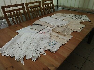 Assorted Job Lot Of Old Linen