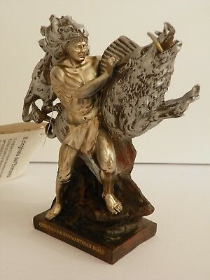 HERCULES & ERYMANTHIAN BOAR(4th labour) 7.1'' FIGURINE HISTORIC GREEK MYTHOLOGY