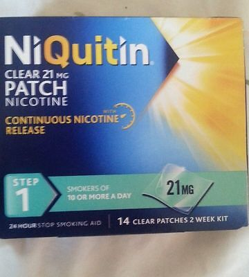 NIQUITIN CLEAR 21mg Patches - Step 1 X 14