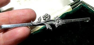 Vintage Antique 1930's Art Deco Large Floral Tie Pin Bar BROOCH Jewellery