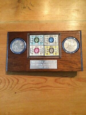 Queen Elizabeth Ii Silver Jubilee Coin And Stamp Set