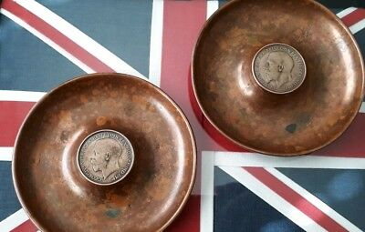 Very rare antique brass alderman with George V one penny 1921 in the middle rare
