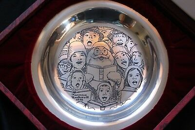 Third annual Franklin mint christmas plate by Norman Rockwell