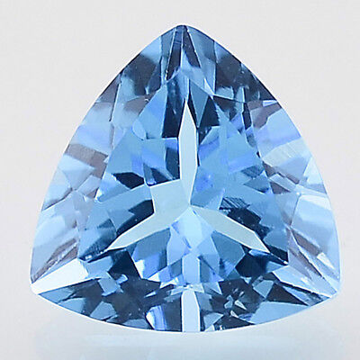 2.51 Cts Natural Swiss Blue Topaz 9x9 mm Trillion Cut Loose Gemstone SBT1017
