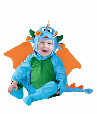 Baby Toddler Blue Dragon Costume Dinosaur Halloween Fancy Dress Outfit Wings