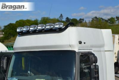 To Fit MAN TGA XLX Cab Black Steel Front Roof Light Bar -Type B