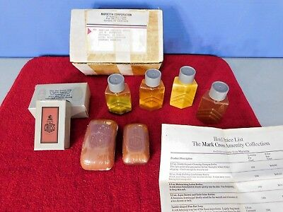 Vintage Mark Cross Hotel Soap Sample Pack, Marietta Corp To The Barclay, Chicago