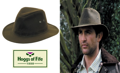 Hoggs of Fife Indiana Waxed Hat - Waterproof Wide Brim Fishing Shooting Country