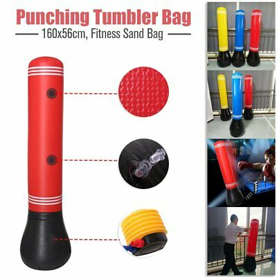 160CM  Home Gym Boxing Bag Target Free Standing Punching Tumbler Dummy Kick U0