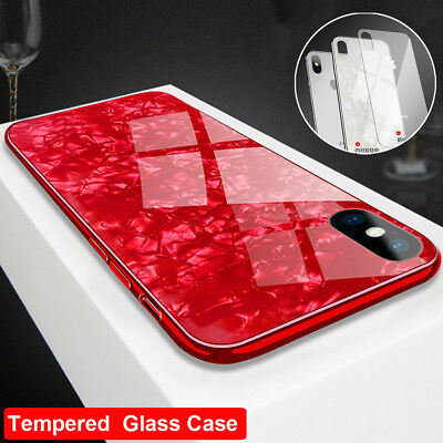 Luxury 3D Bling Tempered Glass Case for iPhone Xs Max/Xr /X 7 8 Shockproof Cover