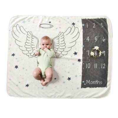 Milestone Backdrop Newborn Baby Shower Blanket Monthly Numbers Photo Prop O6Q7