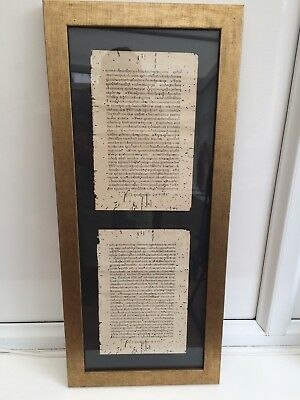 Antique Thai Rice paper Scrolls professionally Mounted for display
